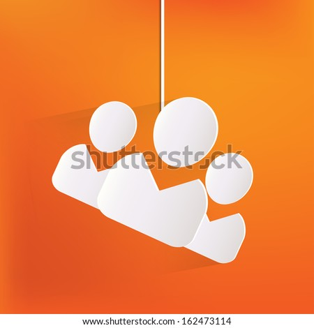 Group of people web icon - stock photo