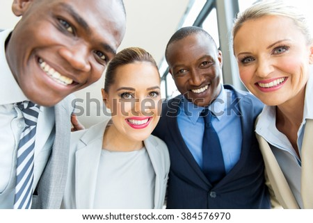 group of professional business team closeup - stock photo