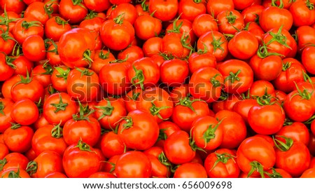 group of red ripe tomatoes