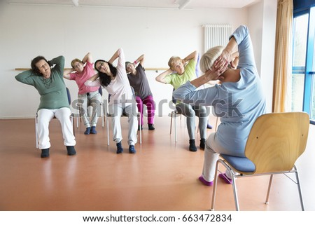 chair exercise stock images royaltyfree images  vectors