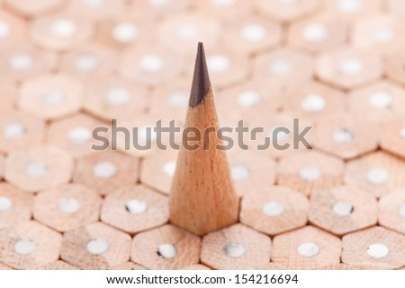 Group of sharpen and un-sharp pencils