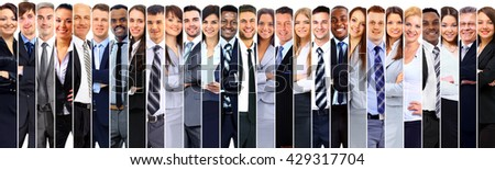 Group of smiling business people. - stock photo