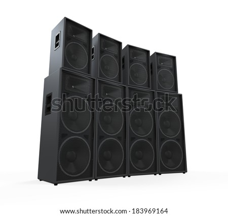 Group of Speakers - stock photo