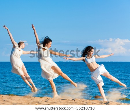 Group of Sporty Women - stock photo