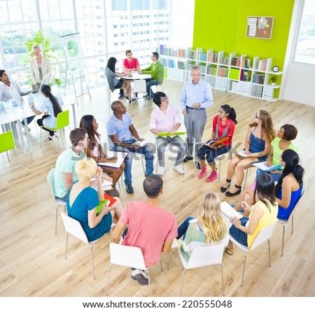 Group of Student in the Classroom - stock photo