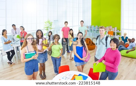 Group of Student in University - stock photo