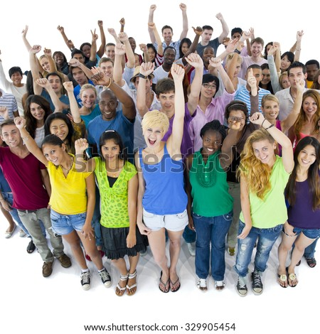 Group of Students Community Togetherness Concept - stock photo