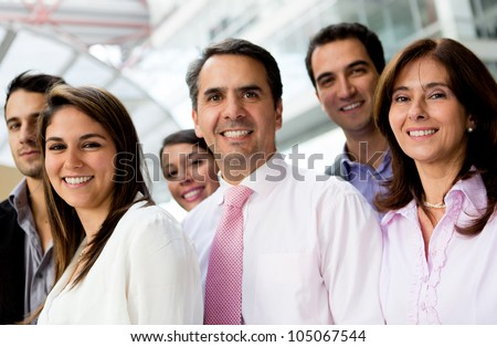 Group of successful business people lat the office - stock photo