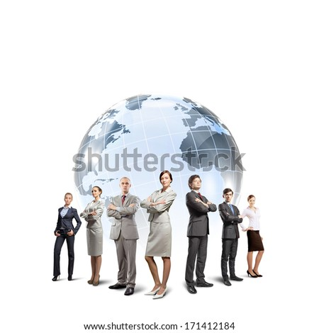 Group of successful confident businesspeople. Globalization concept - stock photo