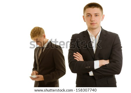 group of two businesspersons working - stock photo
