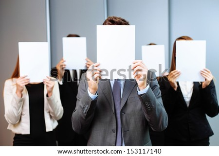 Group of  unrecognizable business people. Human resources concept - stock photo
