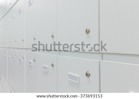 group of unused lockers
