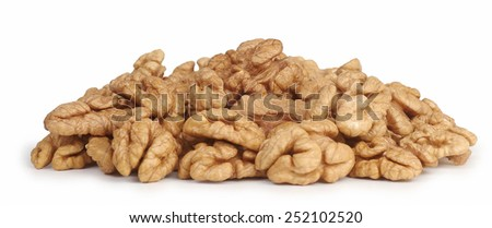 Group of walnuts isolated on white background./Nuts