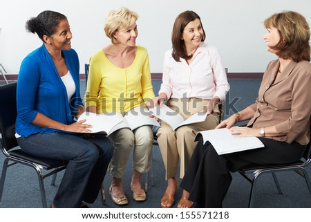 Group Of Women At Book Club - stock photo