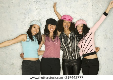 Group of women posing