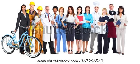 Group of workers people. - stock photo
