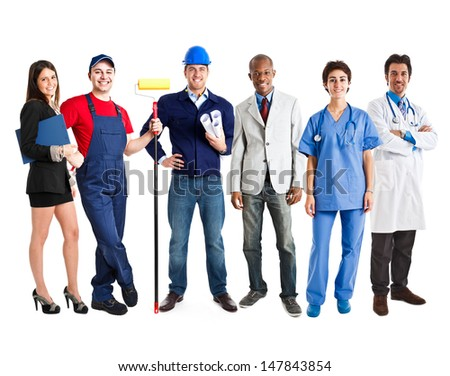 Group of working people - stock photo