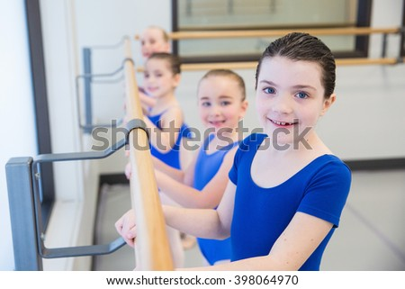 Group of young ballet dancers