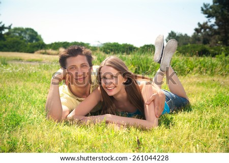 Group of young people express positivity - stock photo