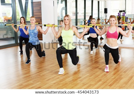 group young women aerobic class making stock photo edit now