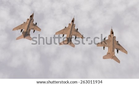 group og military aircrafts - stock photo