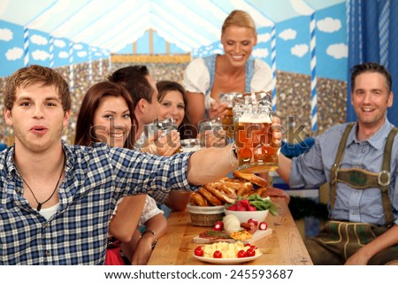 group on the oktoberfest