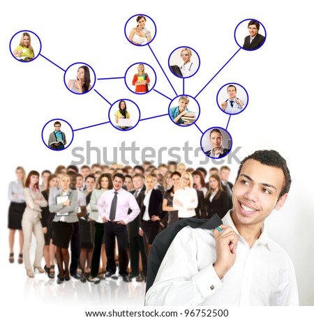 Group people and Network - stock photo