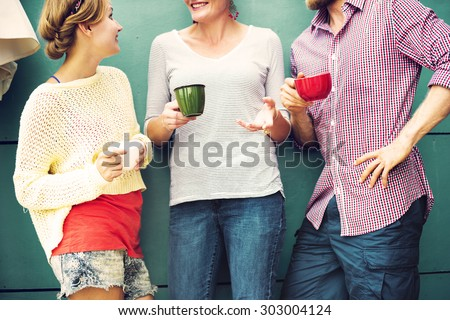 Group People Chatting Interaction Socializing Concept - stock photo