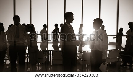 Group People Handshake Meeting Business Concept