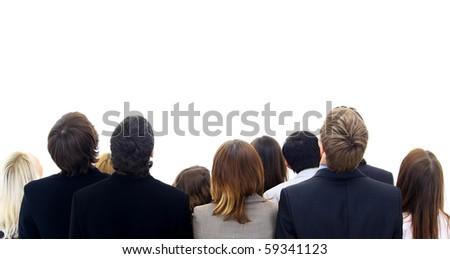 group people isolated on white background - stock photo