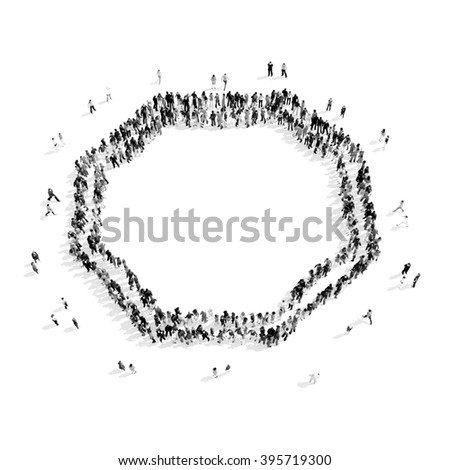group people  shape  frame - stock photo