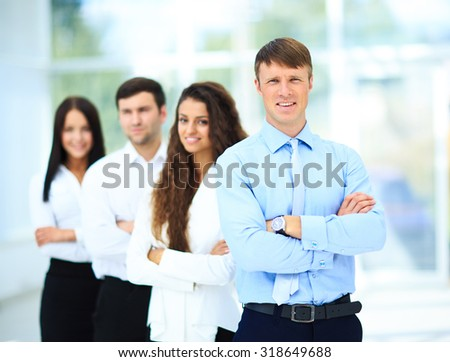 Group portrait of a professional business team - stock photo