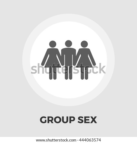 Group sex icon. Isolated on the white background.  - stock photo
