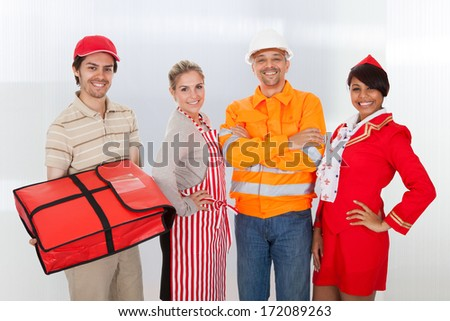 Group Shot Of Professional Worker Standing Together