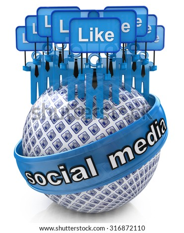 Group social media networks  - stock photo