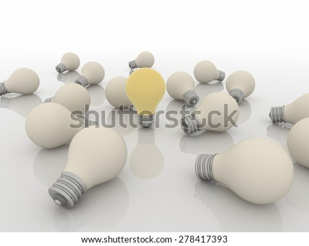 Group Team of Light Bulbs, Idea and Solution Concept