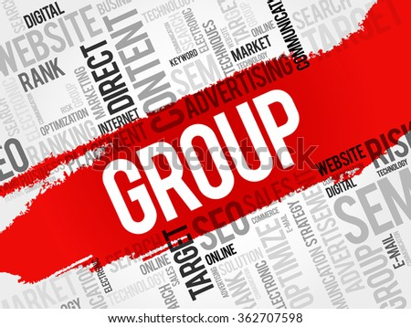 GROUP word cloud, business concept - stock photo