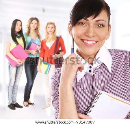 Groupe students - stock photo