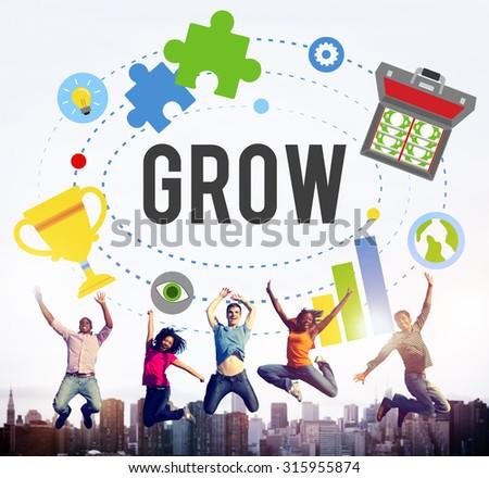 Grow Achievement Success Development Goals Concept - stock photo