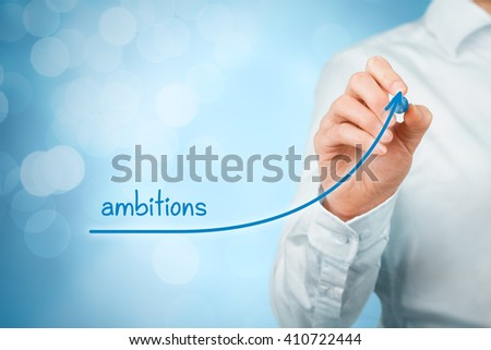 Growing ambitions and personal development concept. - stock photo