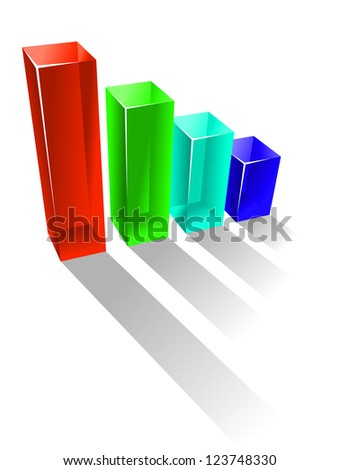 Growing business chart in glossy style for success concept. Vector version also available in gallery