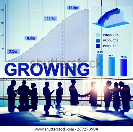 Growing Growth Success Business Aim Target Concept - stock photo