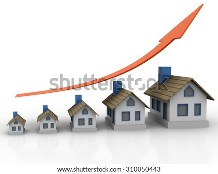 Growing home sale graph