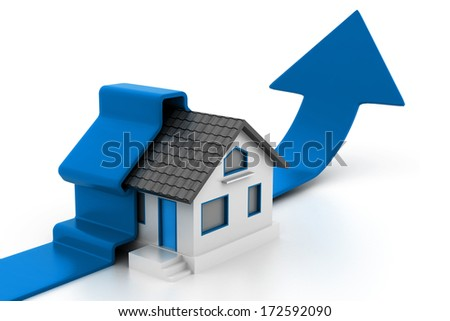 Growing home sales - stock photo