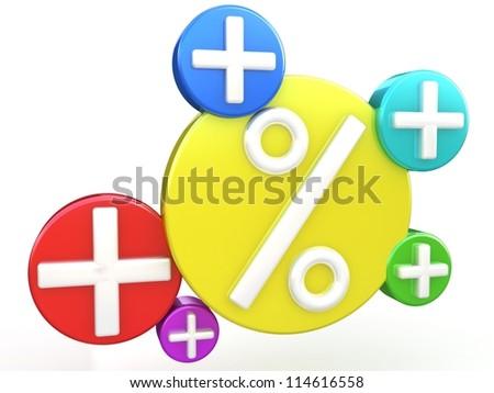 Growing percents - stock photo