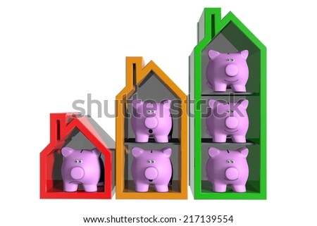Growing real estate market - stock photo