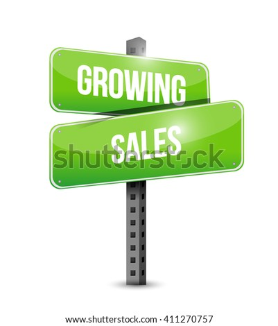 growing sales road sign concept illustration design graphic