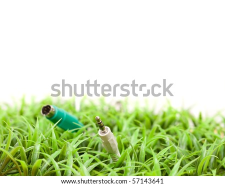 Growing Technology Concept Image with Custom Space - stock photo