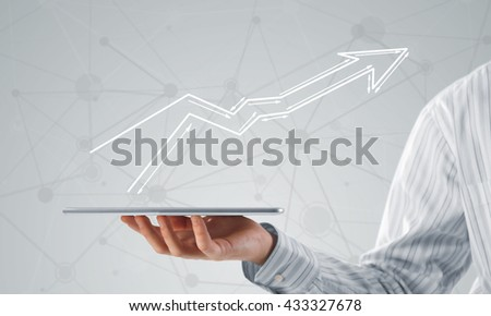 Growth and progress in business - stock photo