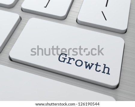 Growth - Button on Modern Computer Keyboard. - stock photo